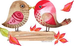 Fall Love Birds