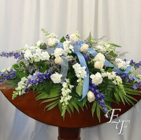 207B Blue & White Casket Spray WEB 500
