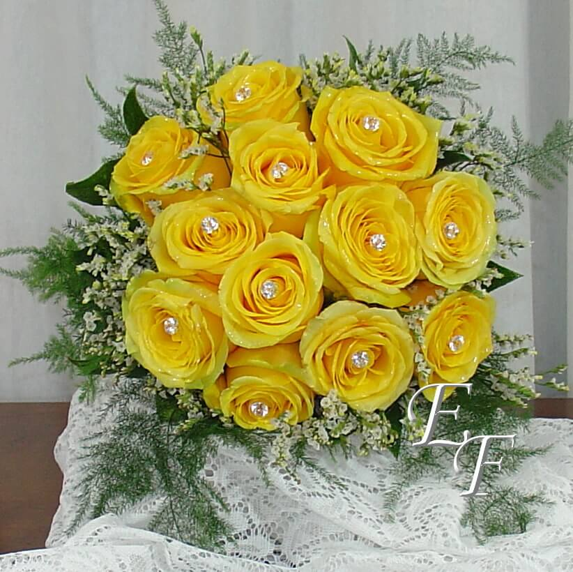 Yellow Rose Wedding Bouquet Ef 705 Essex Florist Greenhouses Inc