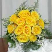 705 Yellow Rose Bouquet with Pearls
