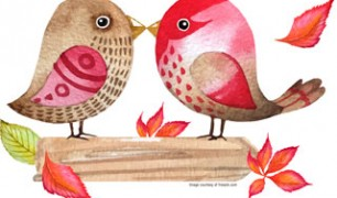 Fall Love Birds
