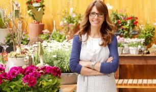 Smiling Mature Woman Florist