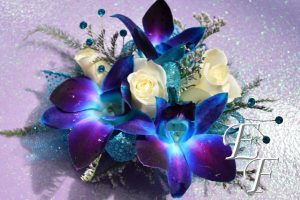 Blue Orchid Corsage Website