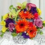 Wedding with a mix of summer flowers