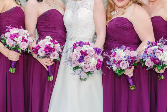 wedding-party-pink-purple