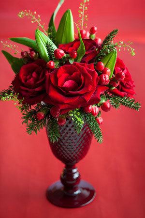 WInter Holiday Flower Bouquets