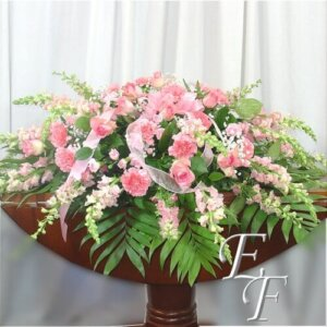 208 B Soft Pink Casket Spray Web 500