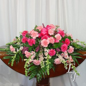 208 Shades of Pink Casket Spray Web