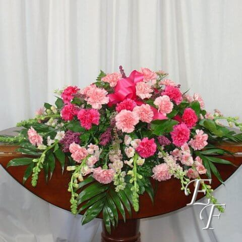 208 Shades of Pink Casket Spray Web 500