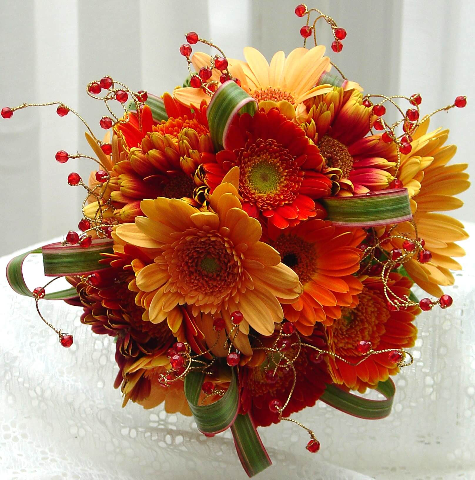Fall Gerbera Daisy Bouquet Fall Gerbera Da...