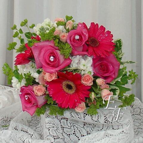 Shades of Pink Brides Maid
