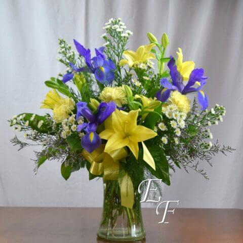 Yellow Lily Iris Vase 307