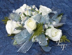 Silk flower corsages essex florist greenhouses inc silk deluxe white sweetheart rose corsage ef 850 mightylinksfo