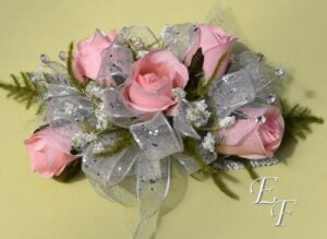 Silk flower corsages essex florist greenhouses inc silk deluxe pink sweetheart rose corsage ef 851 mightylinksfo