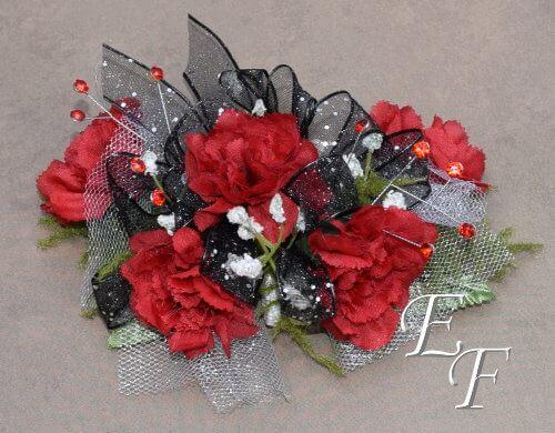 Silk Deluxe Red Miniature Carnation Corsage Ef 855 Essex Florist