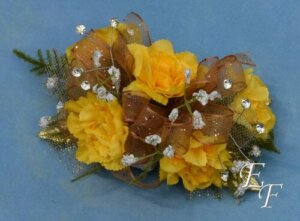 EF 856 Yellow Miniature Carnation Corsage