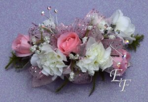 EF 858 Pink Rose & White Mini Corsage