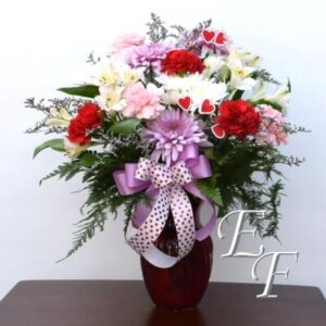 924 Valentine's Red Swirl Bouquet Web400