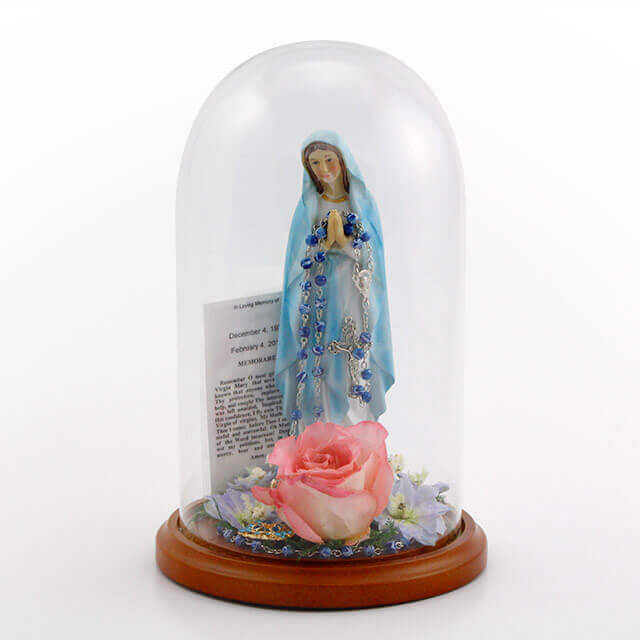 keepsake-dome-praying-mary-sympathy-card-preserved-pink-rose