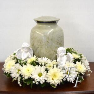 203-5 White Sympathy Urn Design 500