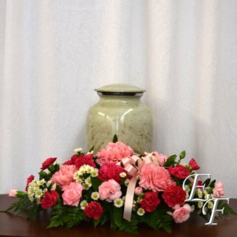 Carnation Sympathy Urn Design 500
