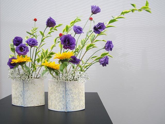 Floral arrangement in Ikebana style