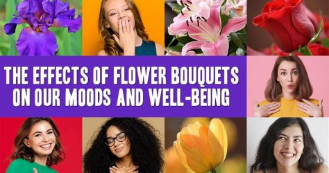 Different types of flowers and emotional expressions.