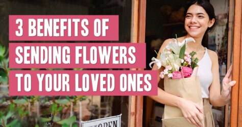 Young woman buying a floral gift