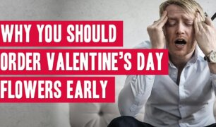 Frustrated man who forgot to order valentine's day flowers.