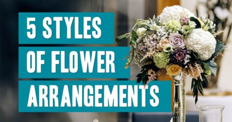 5 Styles Of Flower Arrangements Title Image
