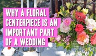 A floral wedding centerpiece
