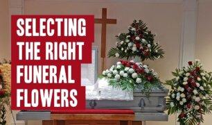 Various types of funeral flower arrangements