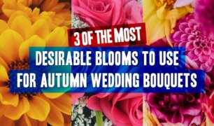 Feature image - 3 types of fall wedding flowers for nouquets